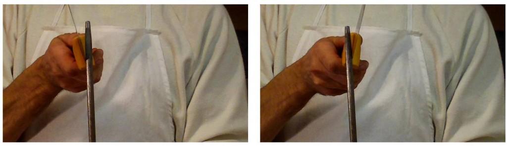vorbereitung zum schinken selber machen teil 2 messer sch rfen mit dem wetzstahl schinken. Black Bedroom Furniture Sets. Home Design Ideas